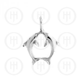 Silver DiamondCut Nautical Animal Charm Dolphin C4928
