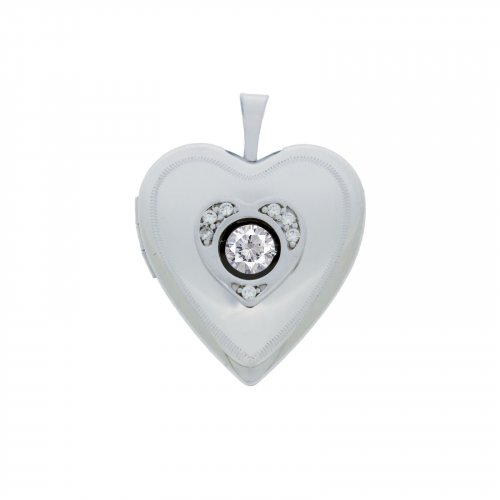 Dancing Diamond Heart Locket (LOC-HE-1077)