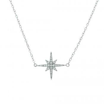 Sterling Silver CZ Starburst Bracelet (BR-1203)