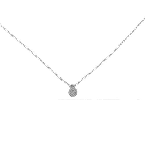 Sterling Silver Plain Pineapple Necklace (N-1241)