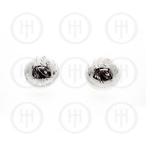 Silver Plain Clip On Stud Earrings (CP-001)