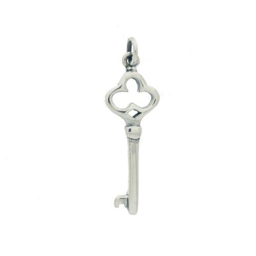 Sterling Silver Skeleton Key Pendant (P-1369)