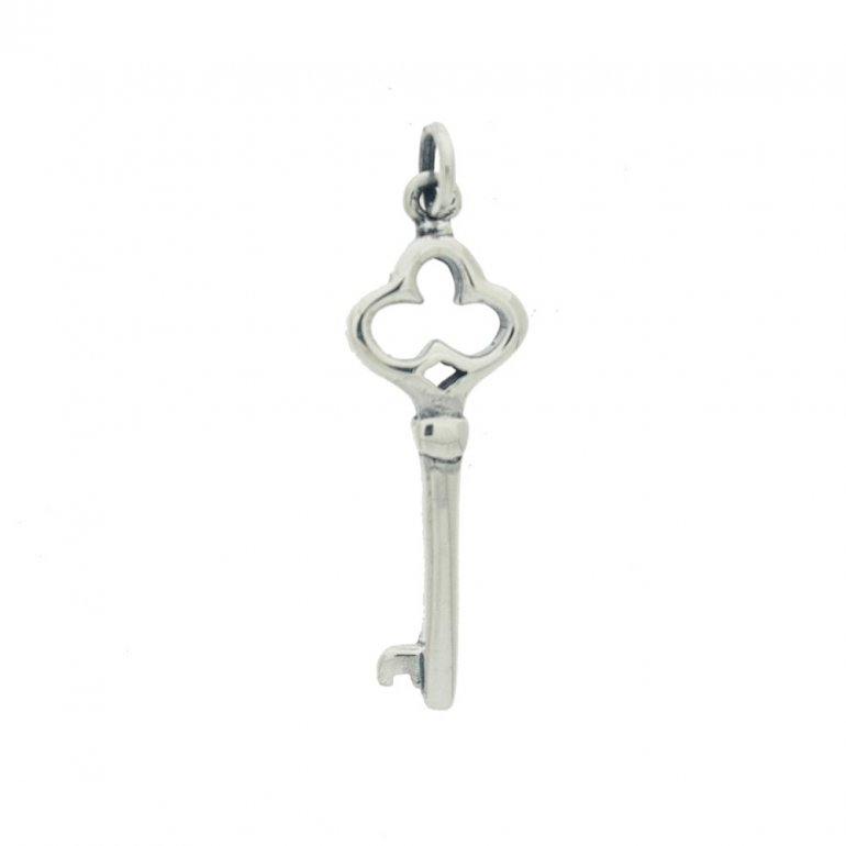 Sterling silver skeleton key pendant sterling silver skeleton key pendant p 1369 aloadofball Images