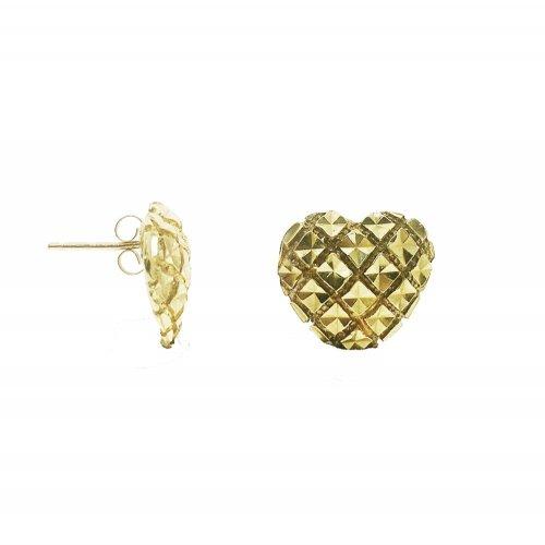 Diamond Cut Heart Earring (GE-1001)
