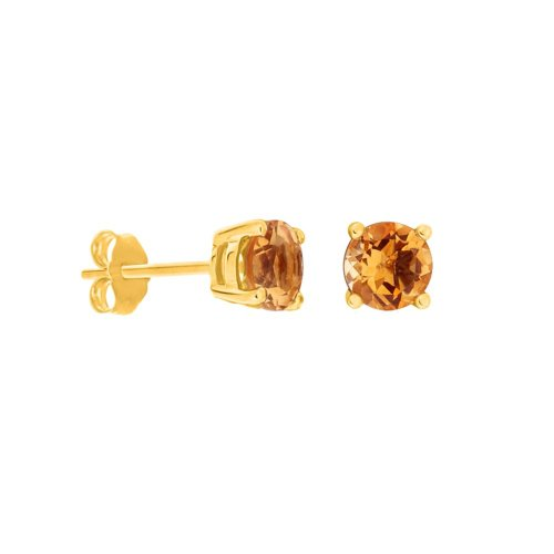 Round Cut Champagne Studs (GE-1014)