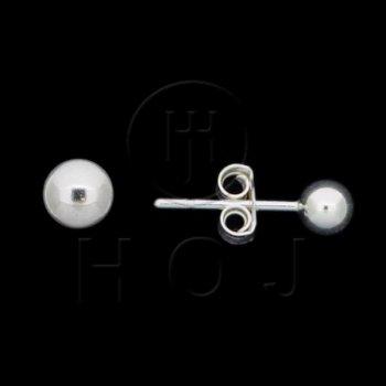 Silver Ball Stud Earrings 4mm (ST-1003-4)
