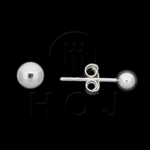 Silver Ball Stud Earrings 4mm (ST-1003-4)