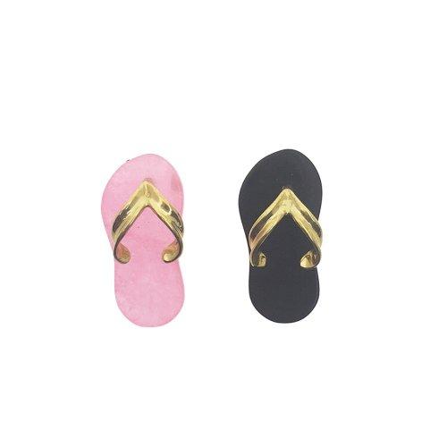 Black and Pink Flip Flop Pendants (GP-1026)