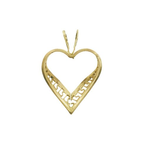 Small Detailed Heart Pendant (GP-1027)
