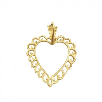 Embroidery Heart Pendant (GP-1031)