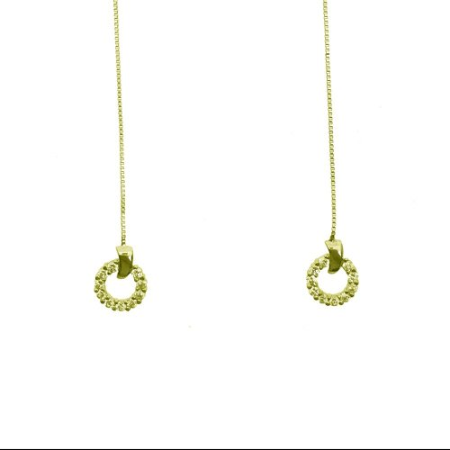 Small Hoop CZ Earrings (GE-1042)