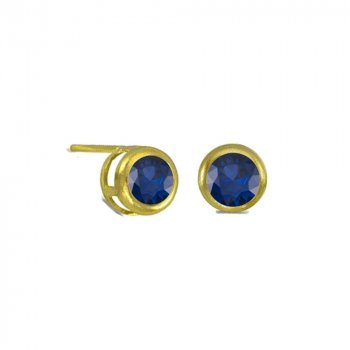 Small Bezzled Sapphire Studs (GE-1053)
