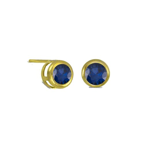 Small Bezzled Sapphire Studs (GE-1053)