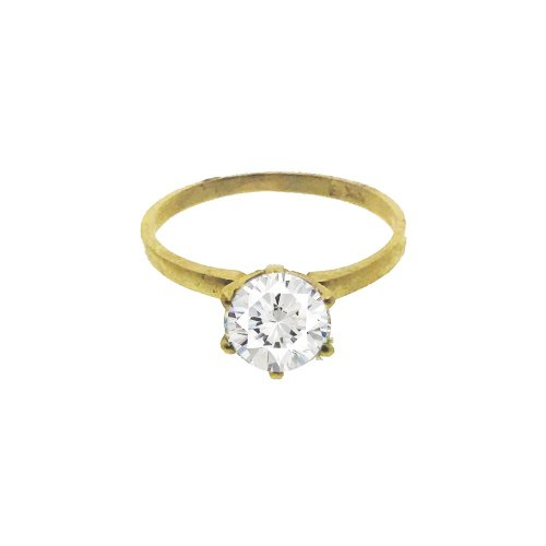 Plain CZ Gold Ring (GR-1064)