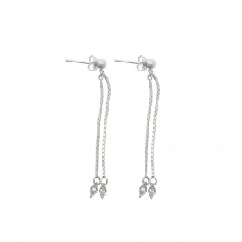 Dangling Diamond Cut CZ Earrings (GE-1065)