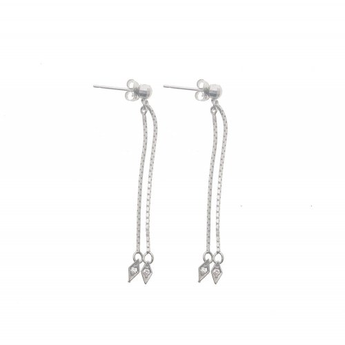 Dangling Diamond Cut CZ Earrings (GE-1065)