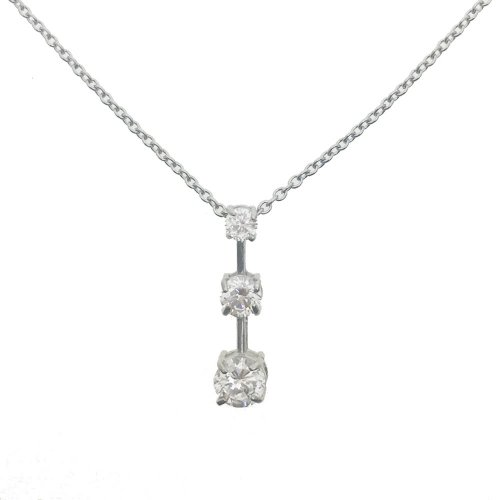 CZ Bar Pendant Circle Cut Necklace (GP-1068)