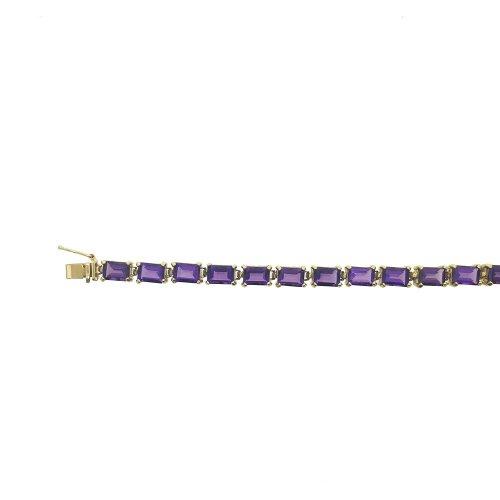 Rectangle cut Amethyst Chain (GC-1072)