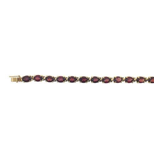 Small Oval Cut Garnet Bracelet (GC-1087)