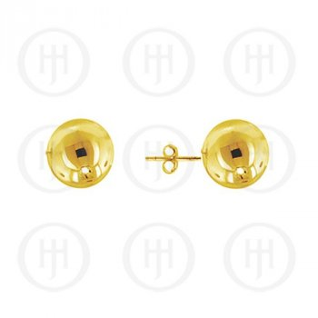 Sterling Silver Gold Plated Ball Stud Earrings 8mm (ST-1026-8G)