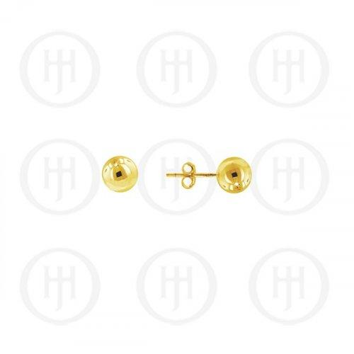14K Gold Earrings Ball Stud 3mm(G-BE-3-14K)