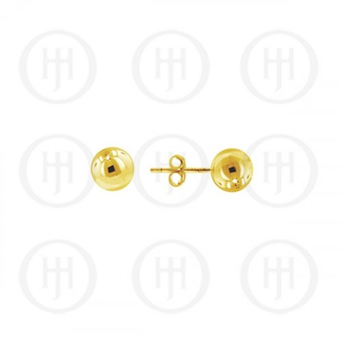14K Gold Earrings Ball Stud 4mm(G-BE-4-14K)