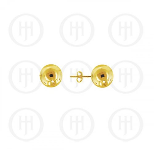 14K Gold Earrings Ball Stud 5mm(G-BE-5-14K)