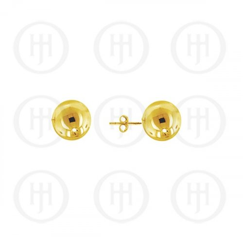 14K Gold Earrings Ball Stud 6mm(G-BE-6-14K)