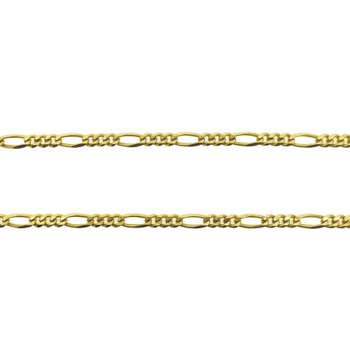 14K Yellow Gold Figaro Chain Necklace 3.8mm (GC-1149)