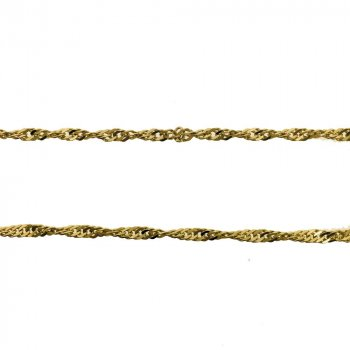 14K Yellow Gold Singapore Chain Necklace 2.2mm (GC-1151)