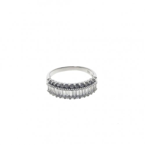 Sterling Silver Baguette Ring (R-1362)