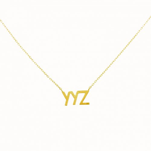 Sterling Silver YYZ Necklace (N-1248)