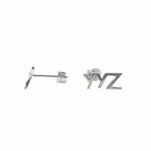 Sterling Silver YYZ Studs (ST-1254)