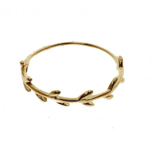 Gold Plated Plain Ivy Ring (R-1345-G)