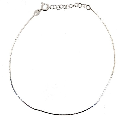 Sterling Silver  D/C Serpentine Anklet (ANK-1056)