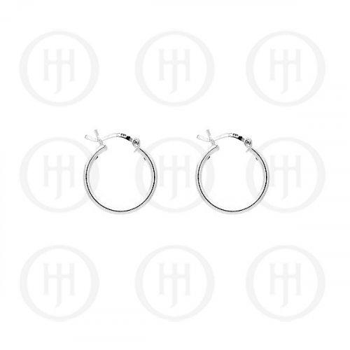 Silver Plain 2mm x 12mm Hoop (HP-2-12)