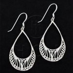 Silver Plain Dangle Earrings ED1157