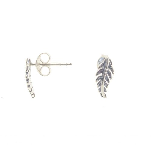 Sterling Silver Plain Leaf Studs (ST-1265)