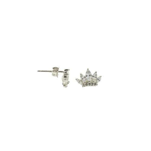 Sterling Silver Mini CZ Crown Studs (ST-1290)
