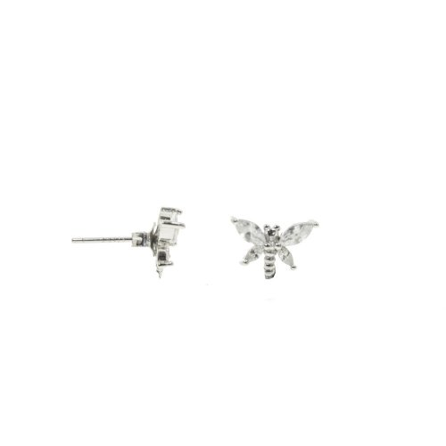 Sterling Silver CZ Dragonfly Studs (ST-1294)