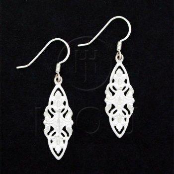 Silver Plain Dangle Earrings ESD167