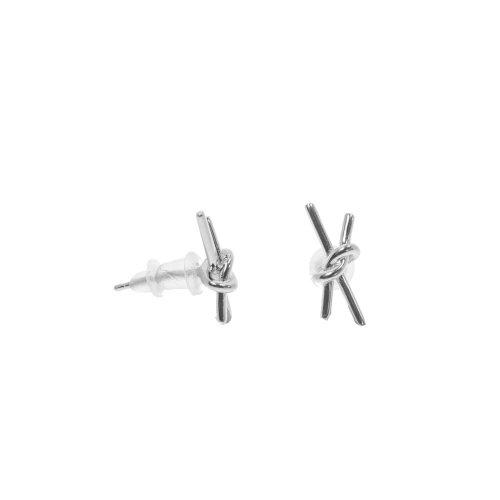 Sterling Silver Plain X Knot Studs (ST-1270)