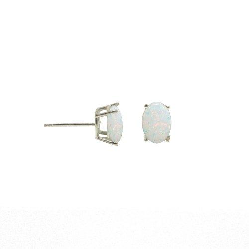 6mm x 8mm Opal Studs