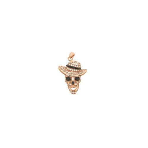 Skull w/ hat pendant (P-1386)