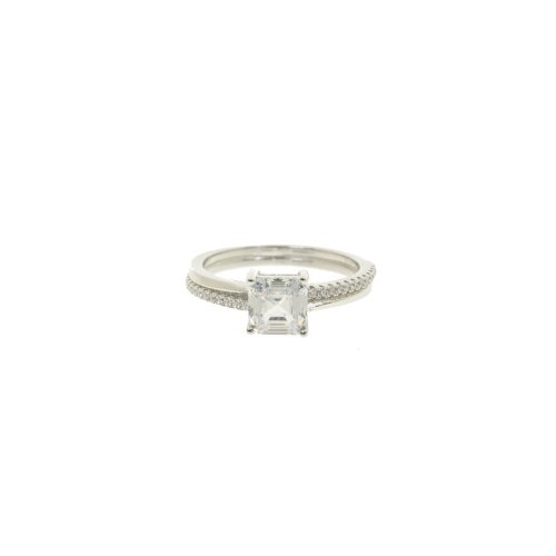 Princess Cut CZ Ring (R-1382)