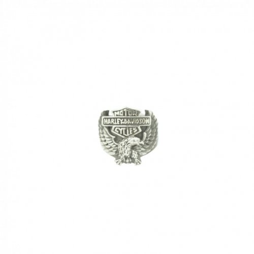 Sterling Silver Harley Davidson Eagle Ring