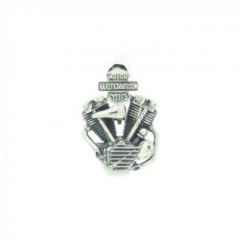 Sterling Silver Harley Davidson Motorcycle Motor Pendant (P-1391)