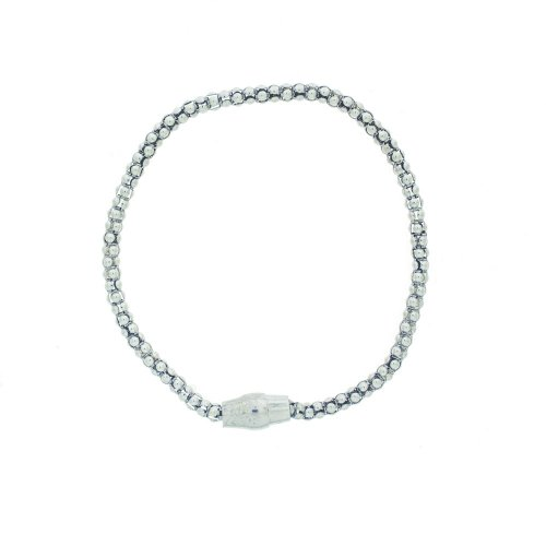 Silver Magnetic Tri-Colour Bracelet (MB-1004-S) Rhodium