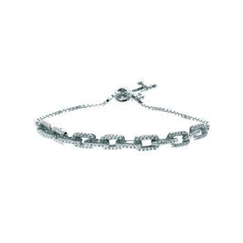 Sterling Silver Adjustable Link Bracelet (BR-1217)