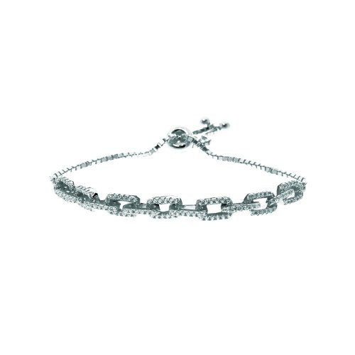 Sterling Silver Adjustable Link Bracelet (BR-1217)